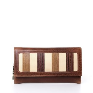 ladies long leather wallet long