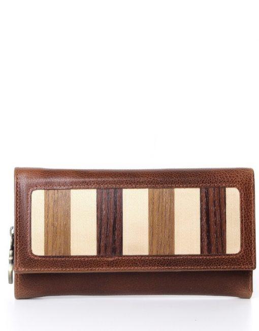 ladies long leather wallet