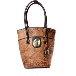 luxury leather bag Vivaldi caramel