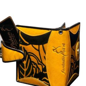luxury leather purse Vivaldi yellow