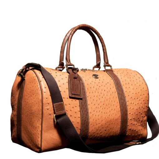 ostrich leather handbag travel bag genuine leather