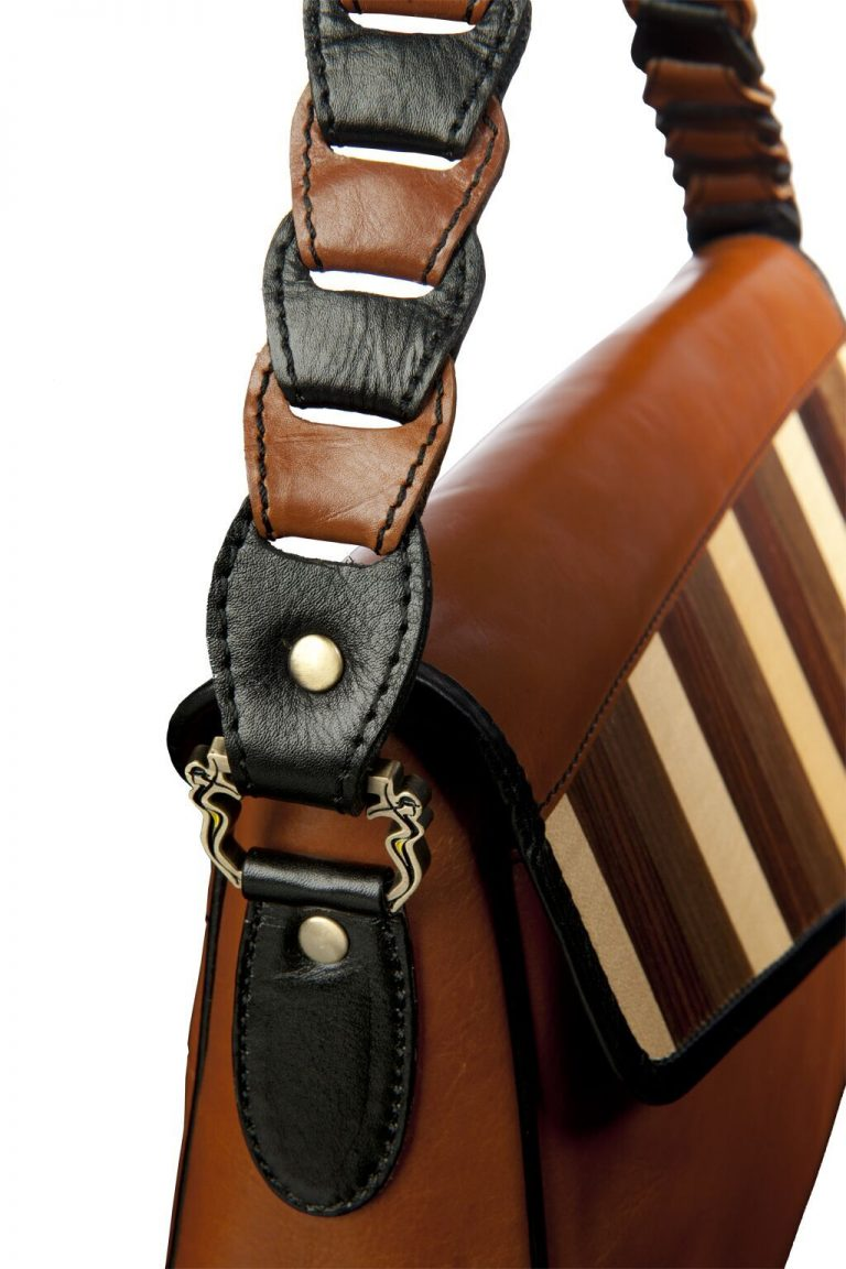 luxury leather bag Beethoven strap