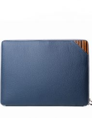 luxury mens portfolio case blue alcina