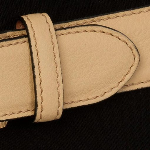 luxury leather belts Amethyst close up