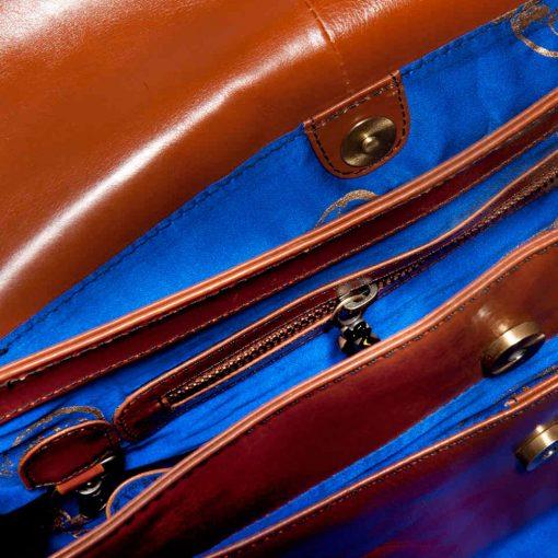 luxury leather bag Beethoven inside