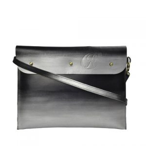 Leather iPad Sleeve carrier silver