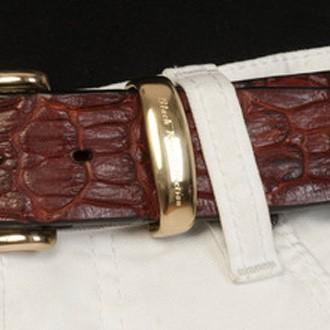 luxury leather belts ivory brass