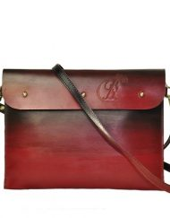 Leather iPad Sleeve carrier louis red