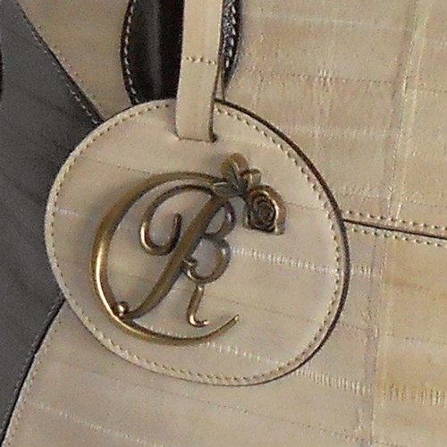 luxury leather bag Mahler BRC Logo