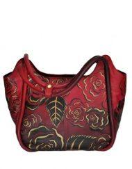 Luxury Leather Hand Painted Handbag pinkerton