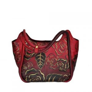 Luxury Leather Hand Painted Handbag pinkerton