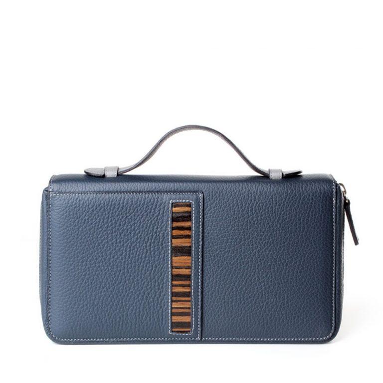compact portfolio case rulska blue