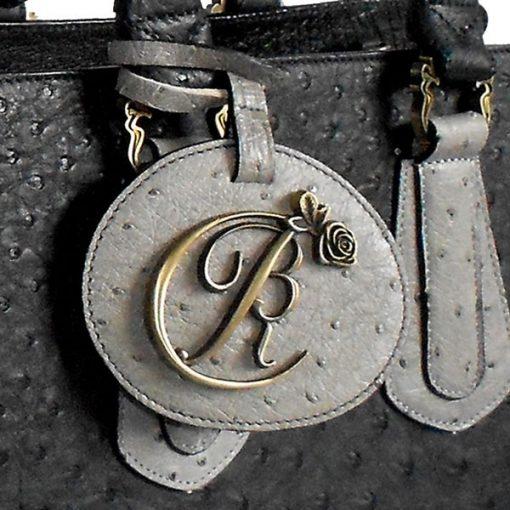 luxury leather bag Schubert Logo