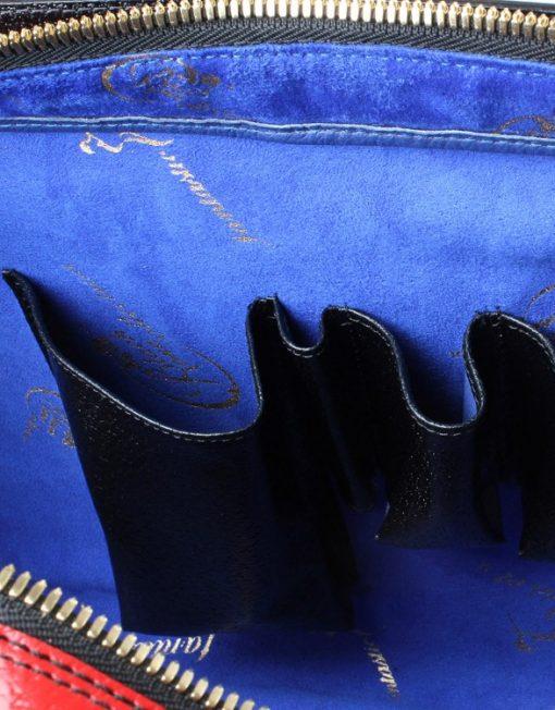 Leather Handbag schubert inside