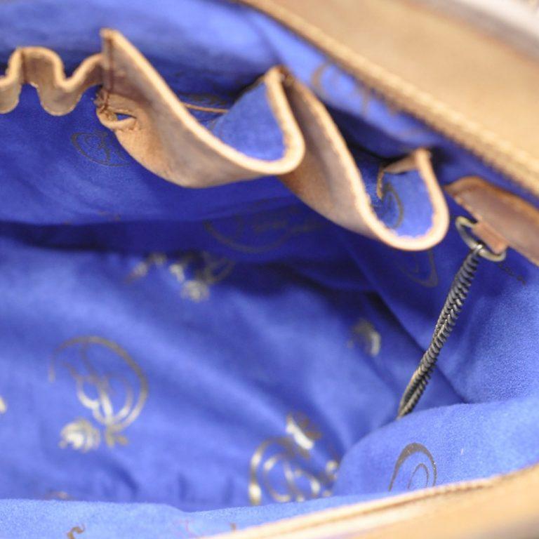 luxury leather bag Vivaldi inside