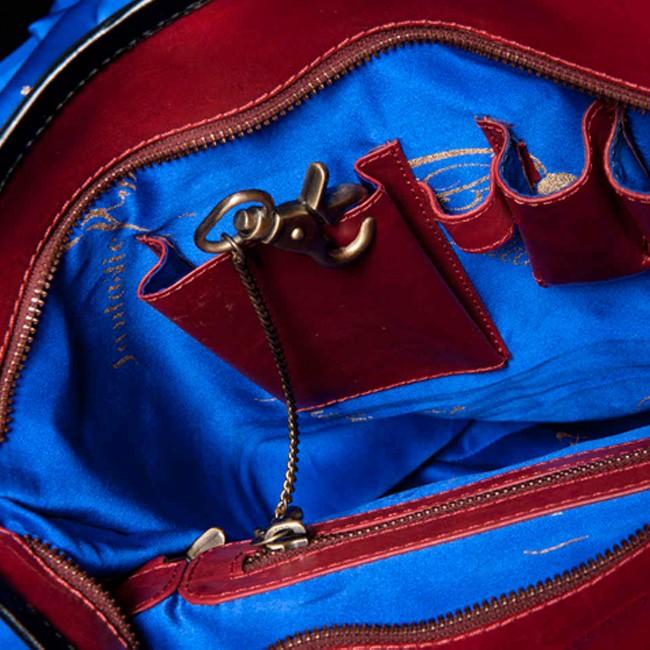 luxury leather bag Vivaldi Summer inside