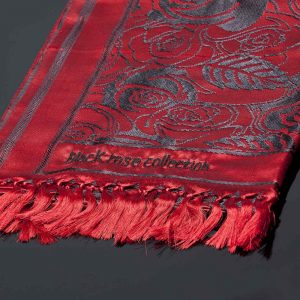 Vivaldi Summer Luxury Scarf Red Close Up